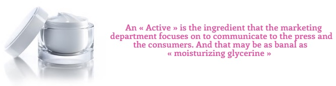 "How ""Active"" is Used for Marketing Cosmetics Products?"
