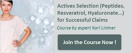 Actives Selection (Peptides, Resveratrol, Hyaluronate…) for Successful Claims