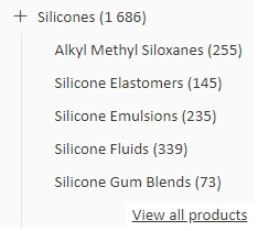 Commercially Available Silicone Grades!