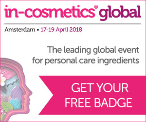 The leading Global event for personal care ingredients