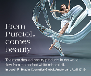 In booth P136 at In-Cosmetics Golbal, Amsterdam